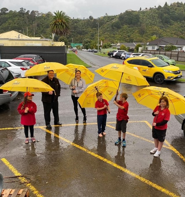MTF Finance Whakatane donated umbrellas